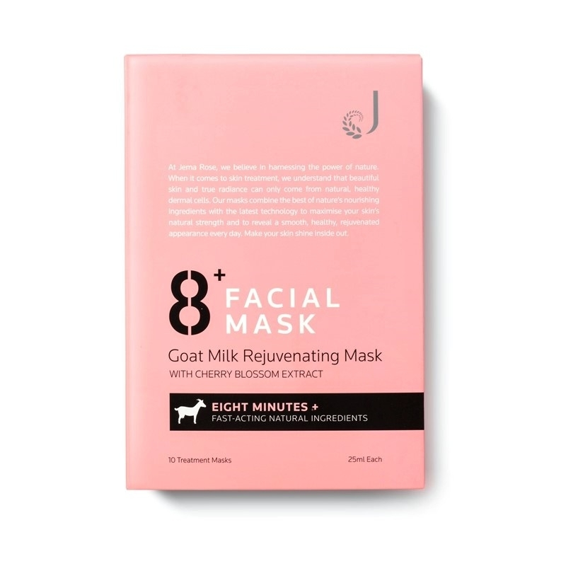 Премиальная маска Jema Rose 8+ Goat Milk Rejuvenating Mask With Cherry Blossom Extract