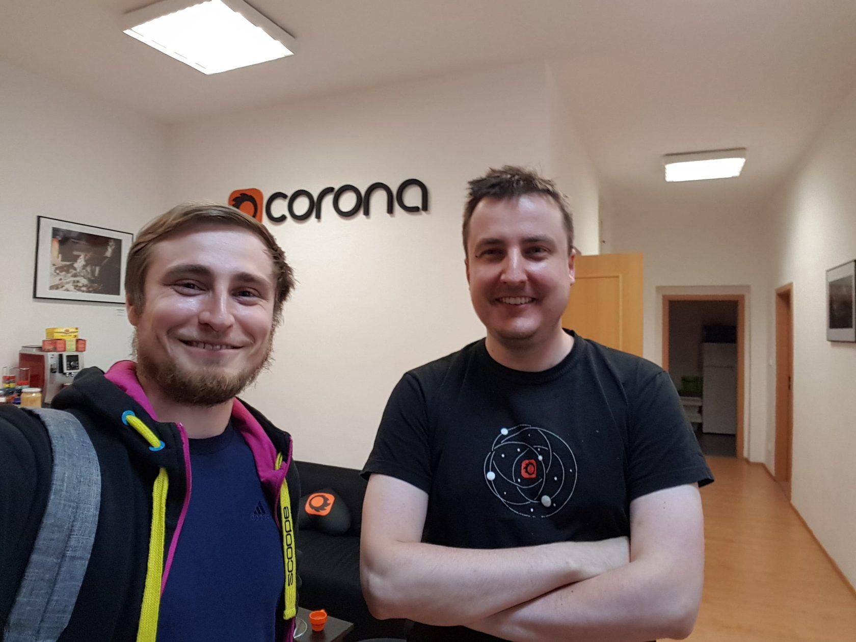 Руководитель школы 3DCLUB Семен Потамошнев и разработчик Corona Renderer Ondřej Karlík
