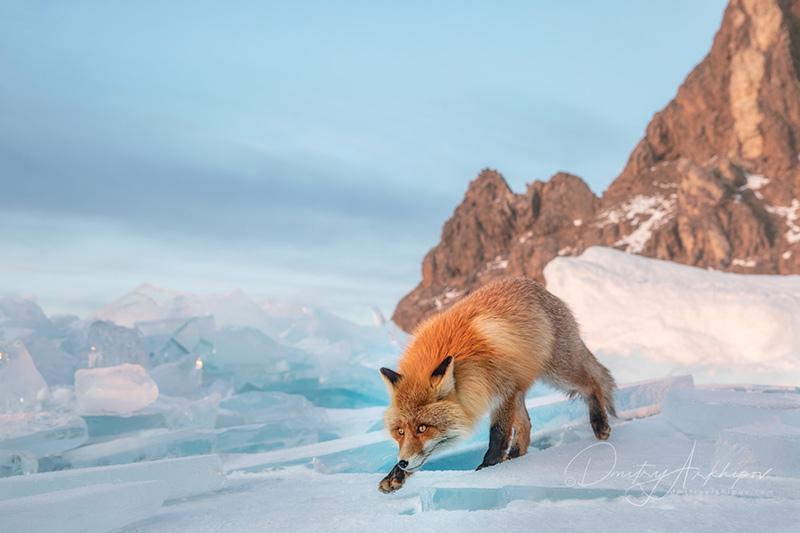 On the ice of Lake Baikal