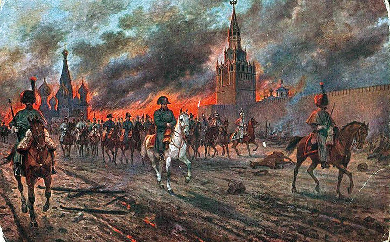 Виктор Мазуровский. «Наполеон покидает Кремль»