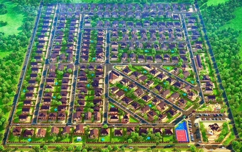 генеральный план коттеджного поселка виктория престиж