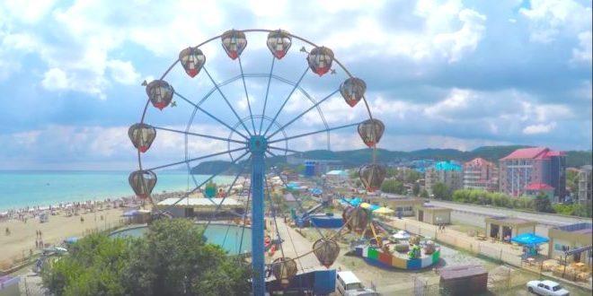 Вид на курортный поселок Лермонтово