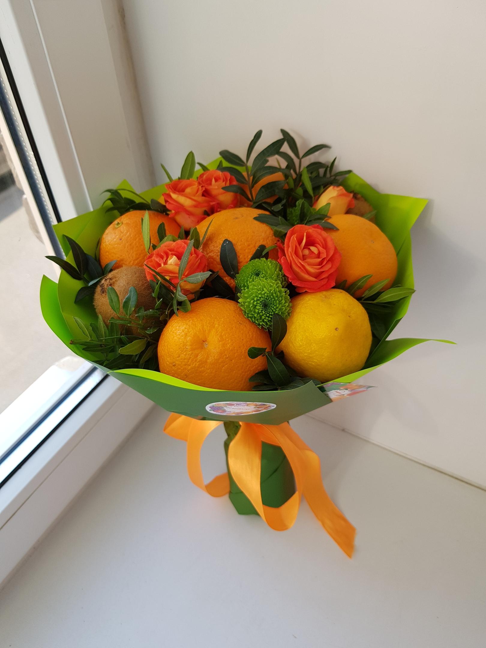 Букеты из фруктов ульяновск, букеты пионов роз
