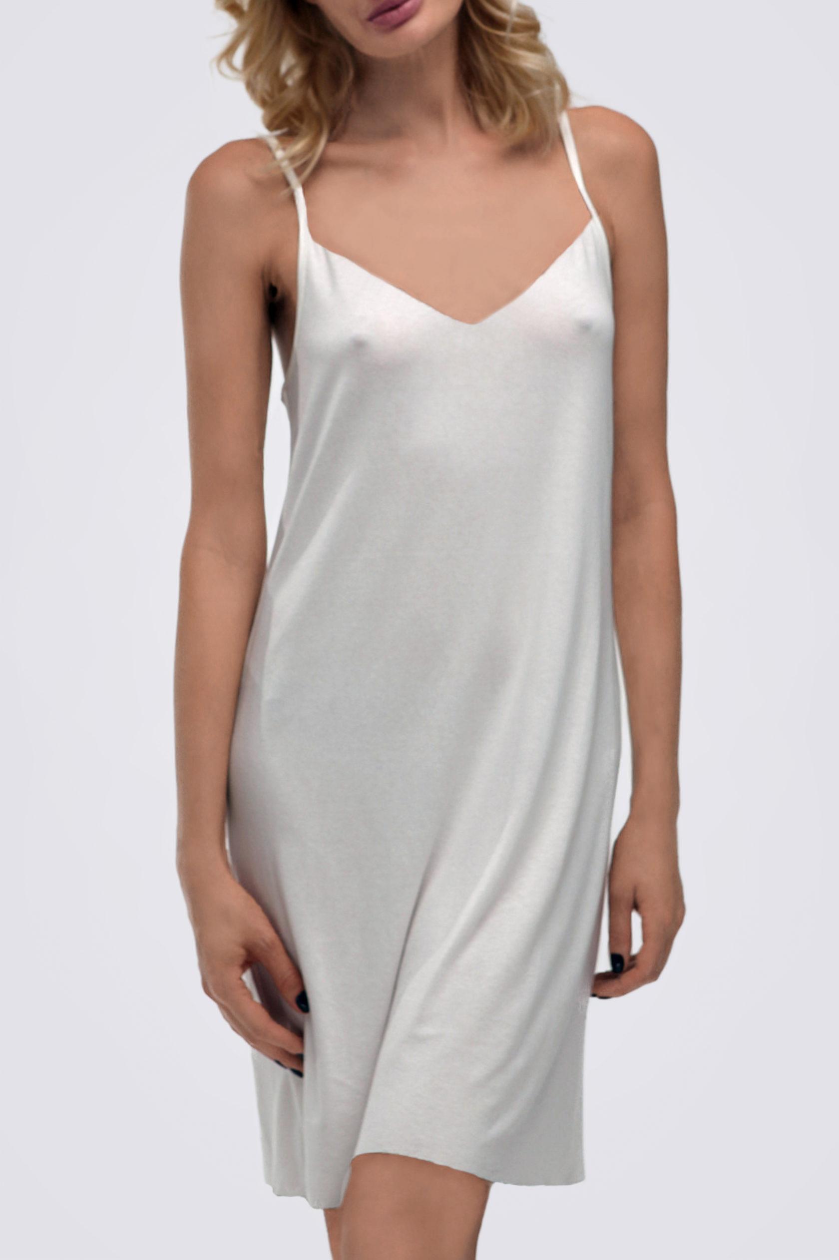 Платье комбинация ES.design  белое EGOStyle