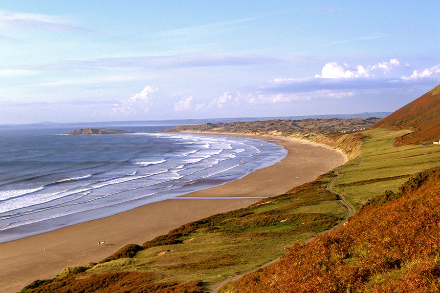 A sandy beach on the Gower, Wales