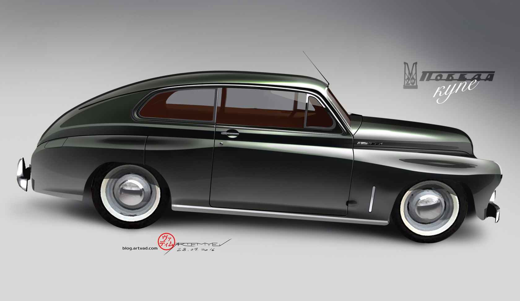 "GAZ M20 ""Pobeda"" custom Coupe"
