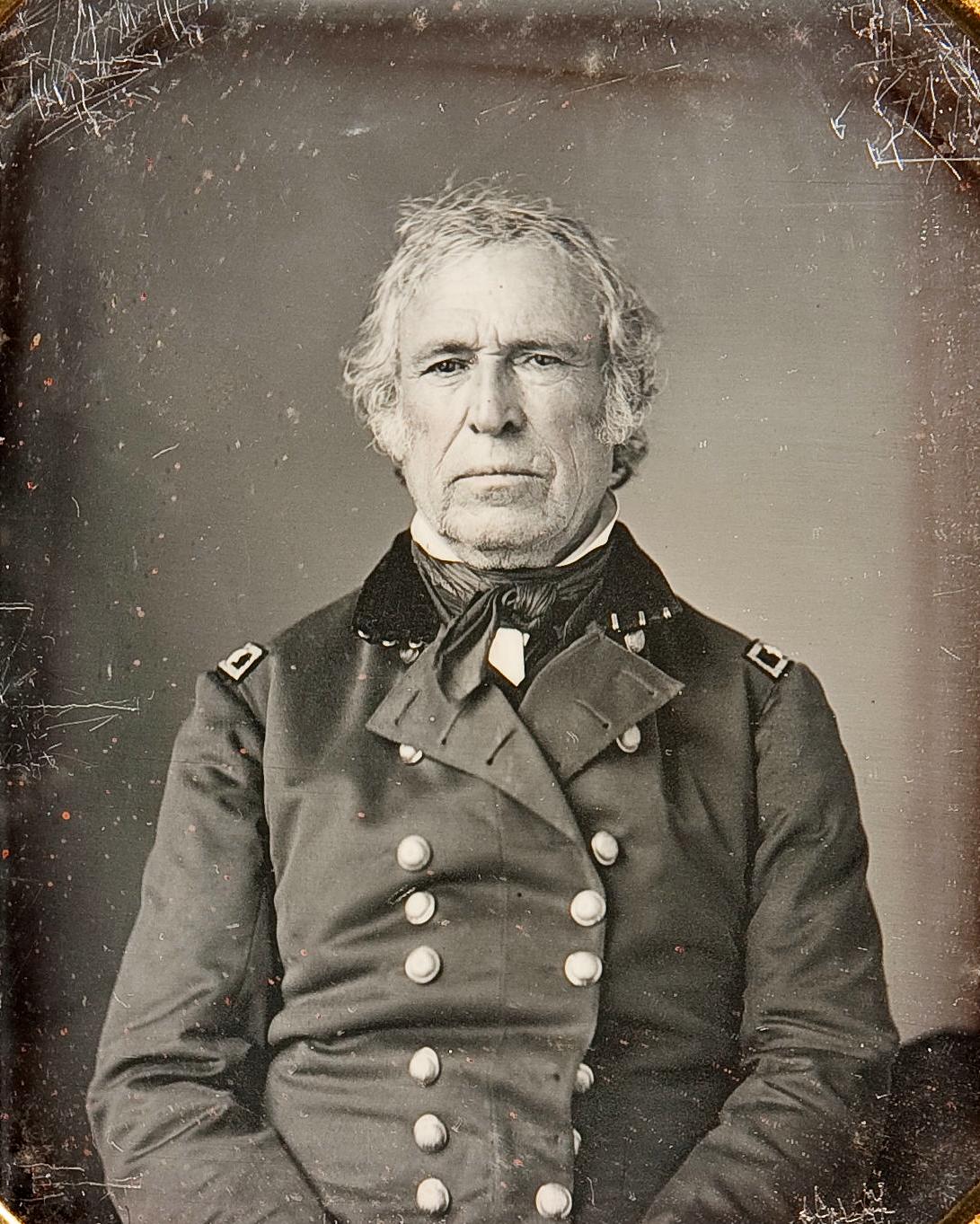 Закари Тейлор, 12-й президент США, дагерротип 1843 года.