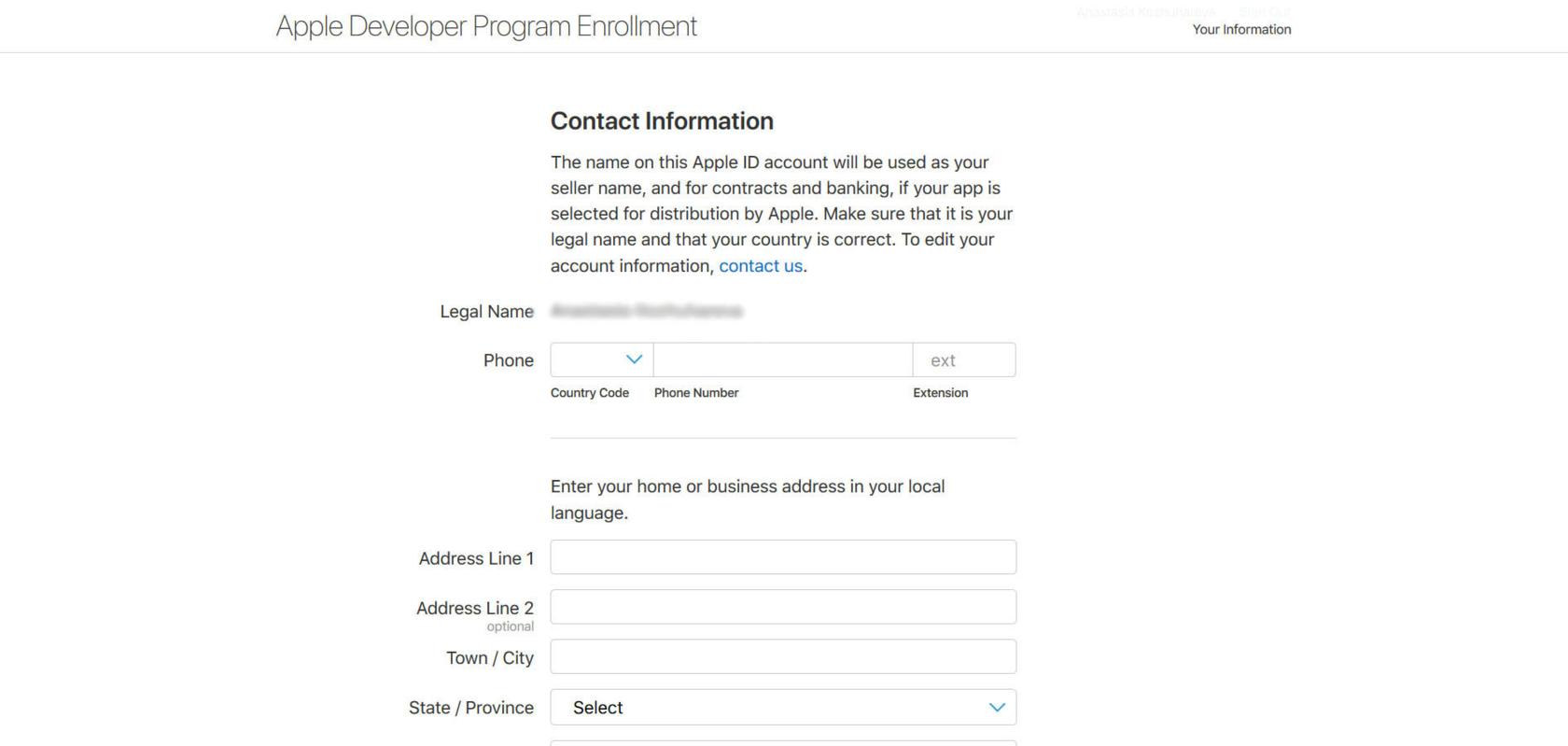 Регистрация аккаунта в App Store