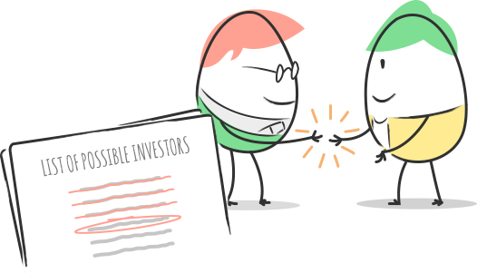 Illustration to pitch deck template guide action plan approach investors
