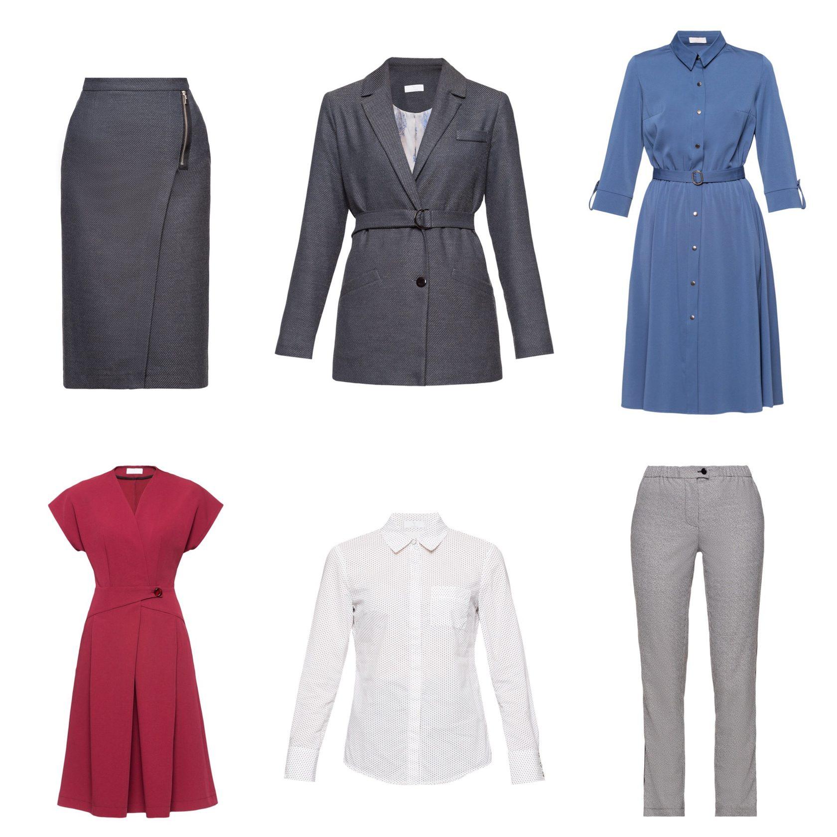 Базовый гардероб для офиса. Рабочая капсула из юбки, платья, рубашки, брюк и жакета
