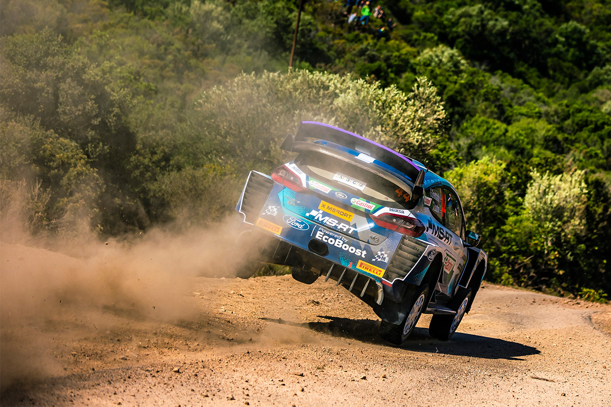 Гас Гринсмит и Стюарт Лаудон, Ford Fiesta WRC, ралли Сардиния 2021