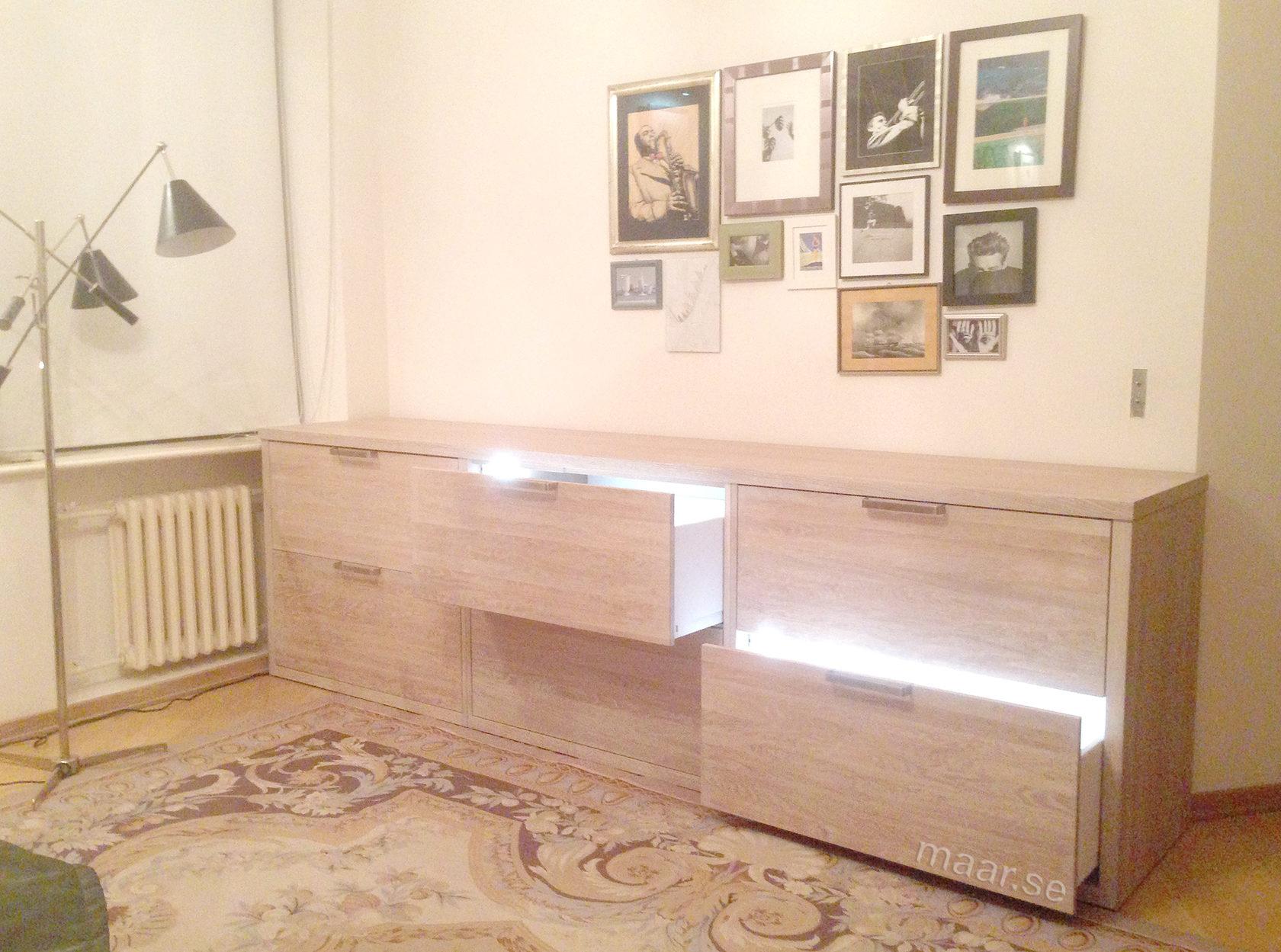 Комод из массива дуба - мастерская мебели в стиле лофт