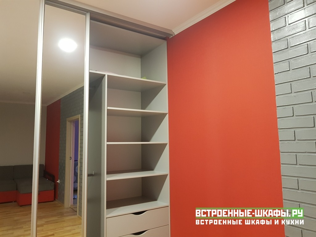 Встроенный шкаф купе с зеркалами по индивидуальному заказу