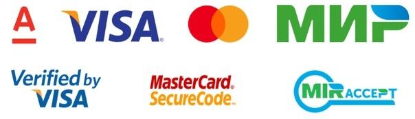 К оплате принимаются карты VISA, MasterCard, Платежная система «Мир».
