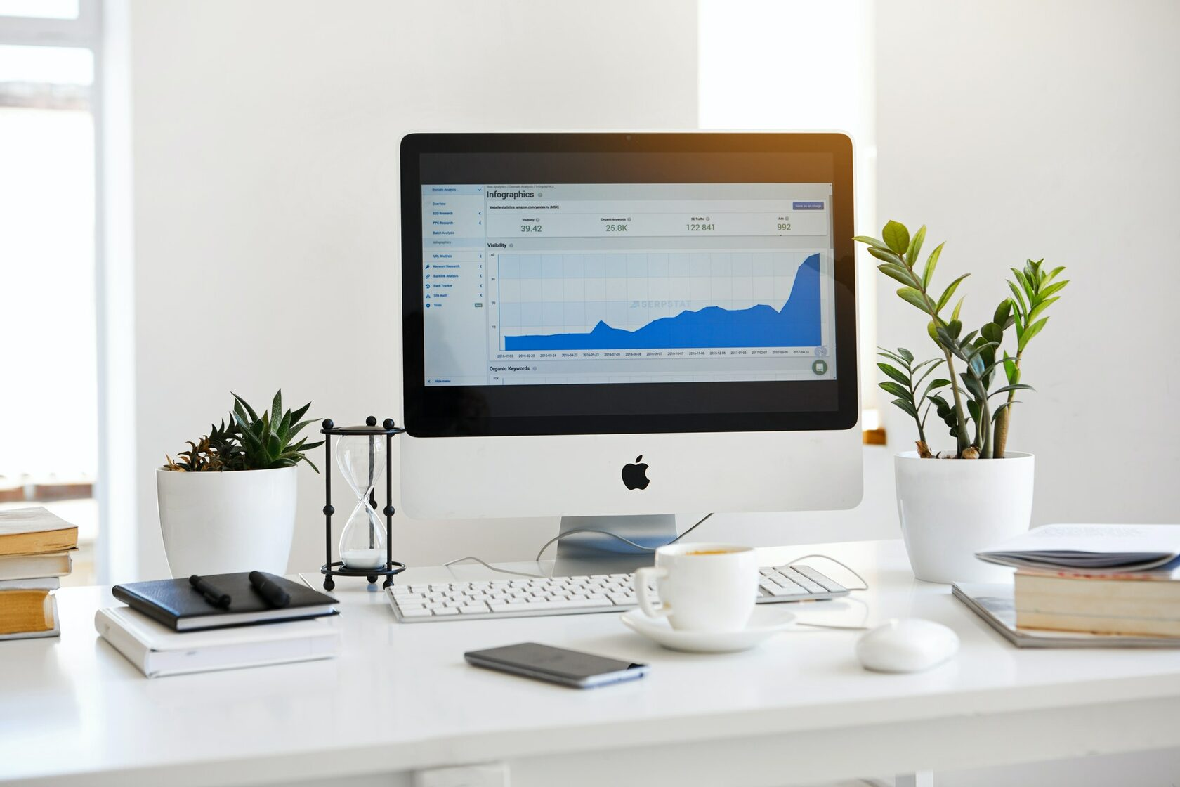 An image of a marketing workstation with a computer
