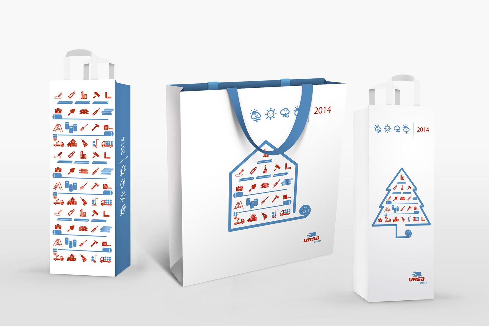 Упаковка с логотипами и открытка