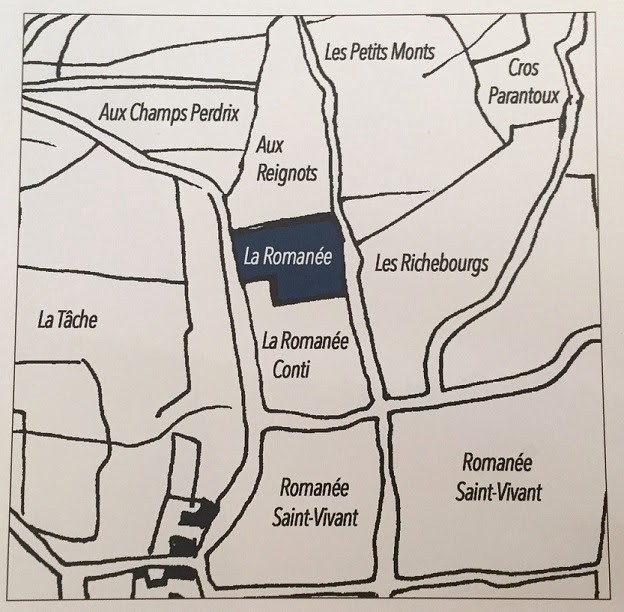 La Romanée Grand Cru map