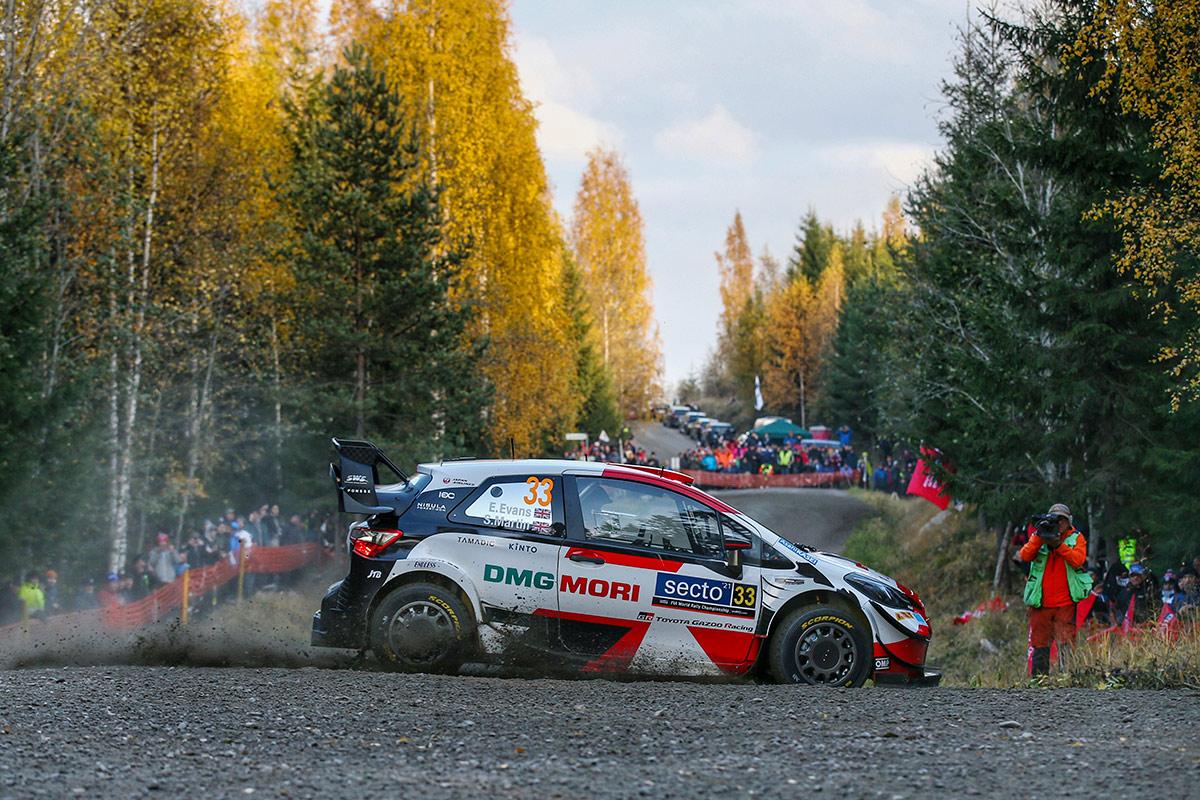 Элфин Эванс и Скотт Мартин, Toyota Yaris WRC, ралли Финляндия 2021