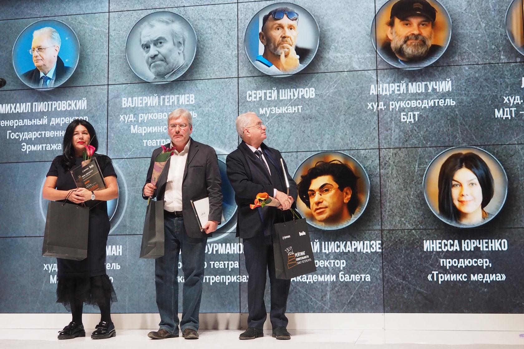 Награждение «Самых влиятельных в петербургской культуре» по мнению экспертов Рейтинга