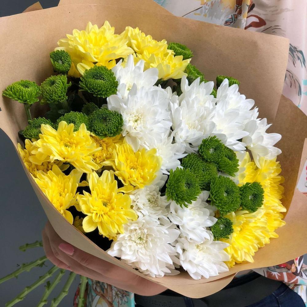 букеты из хризантемы кустовой фото наконечниками