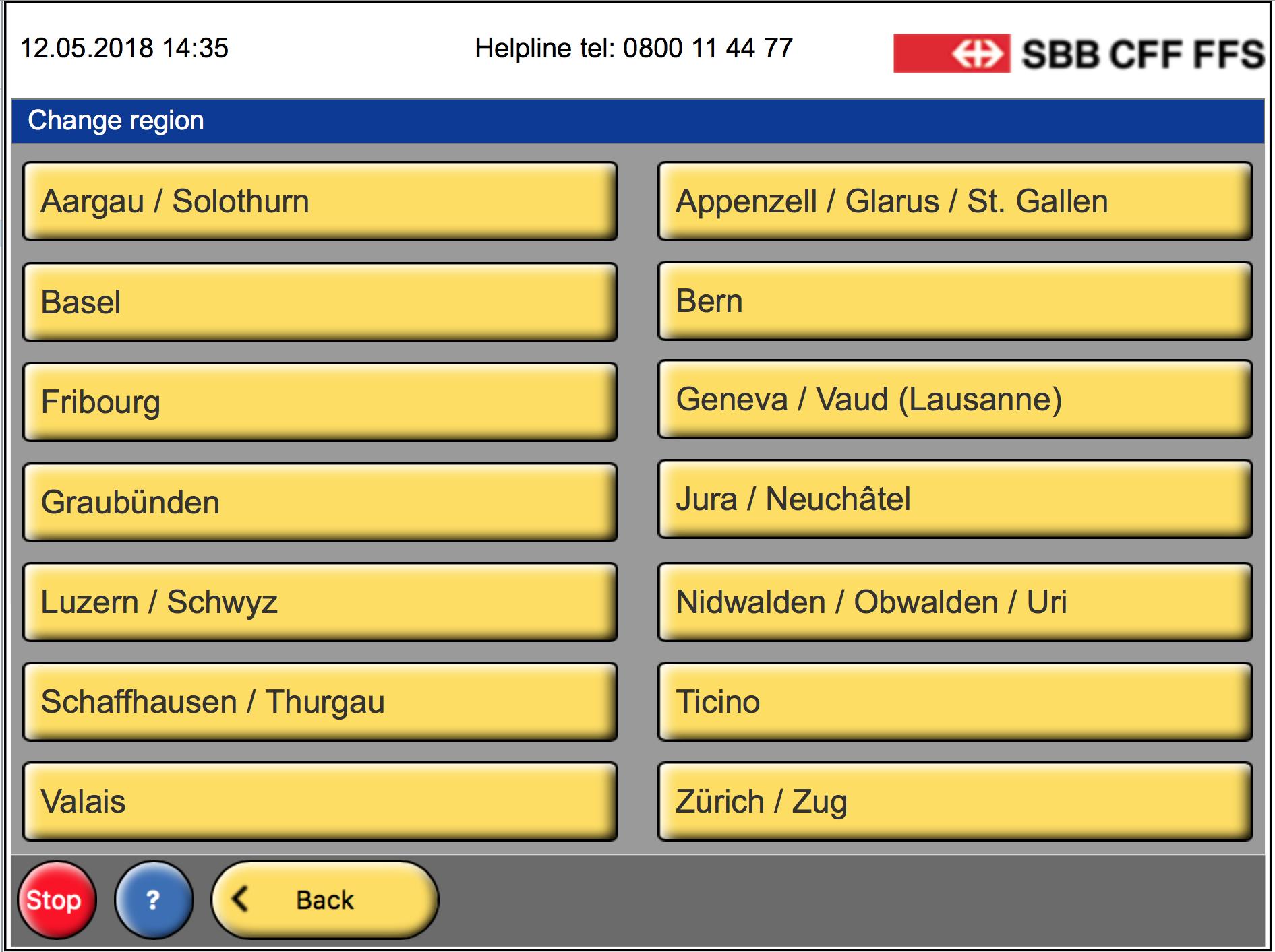 26 кантонов (игород Лозанна) уместились на14 кнопках | SobakaPav.ru