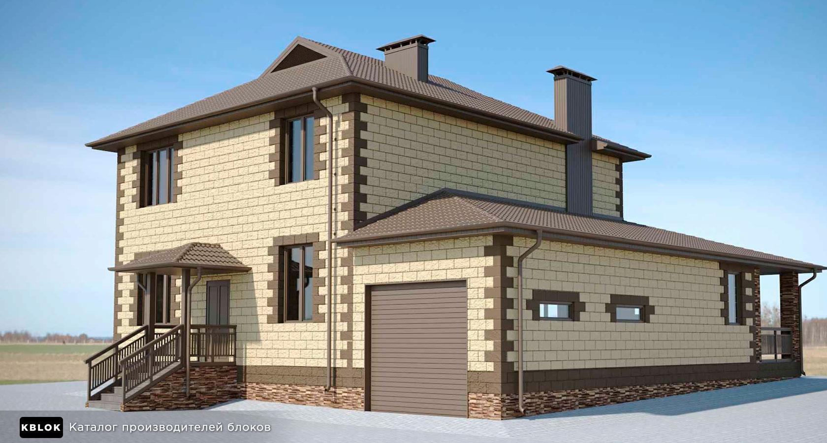 проект дома из керамзитобетонных блоков для расчета