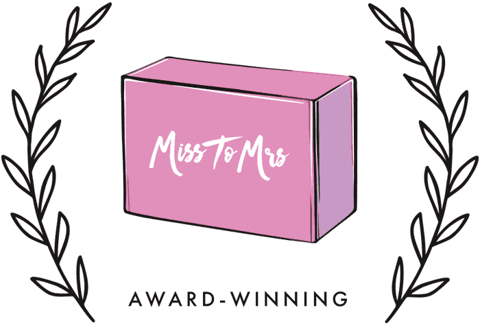 Miss To Mrs Box Logo with Award