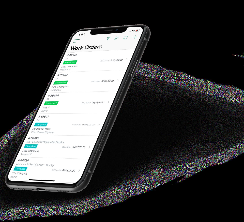 iPhone Mockup Work Management Mobile App Design