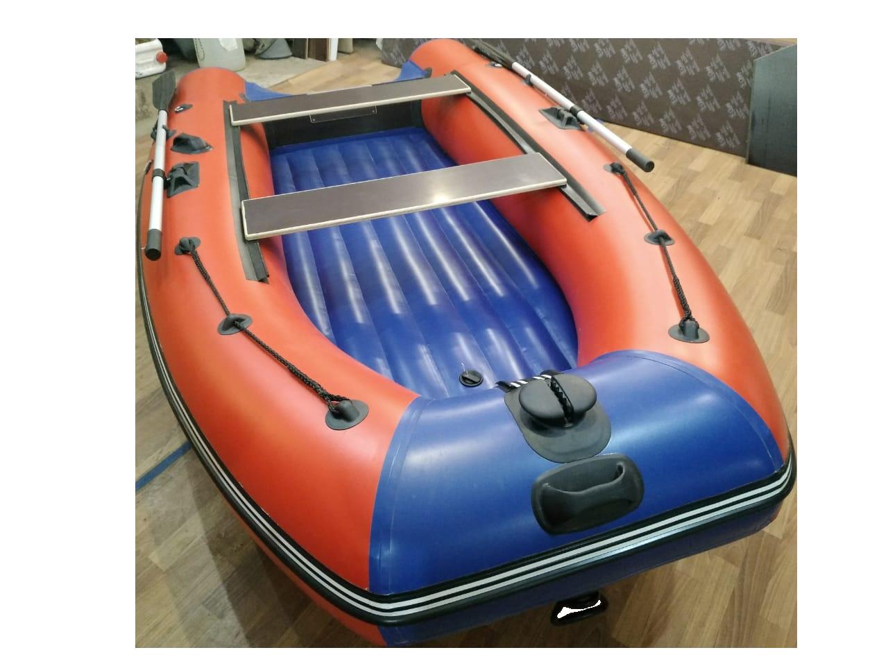 Надувная моторная лодка с надувным дном