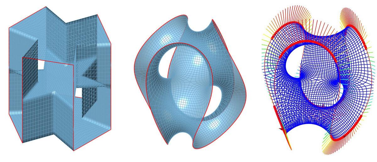 нахождение формы структуры в Kangaroo Physics и анализ конструкции в K2Engineering