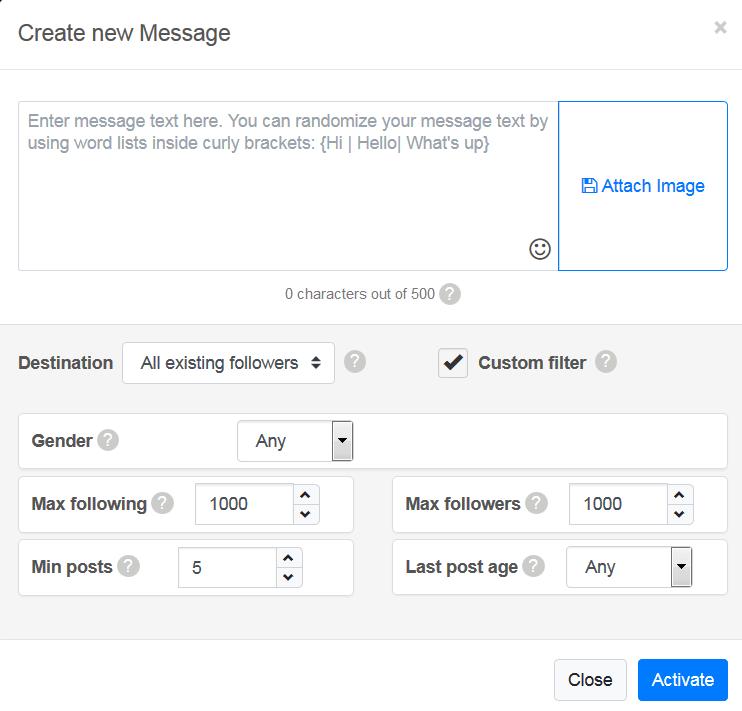 create new custom message