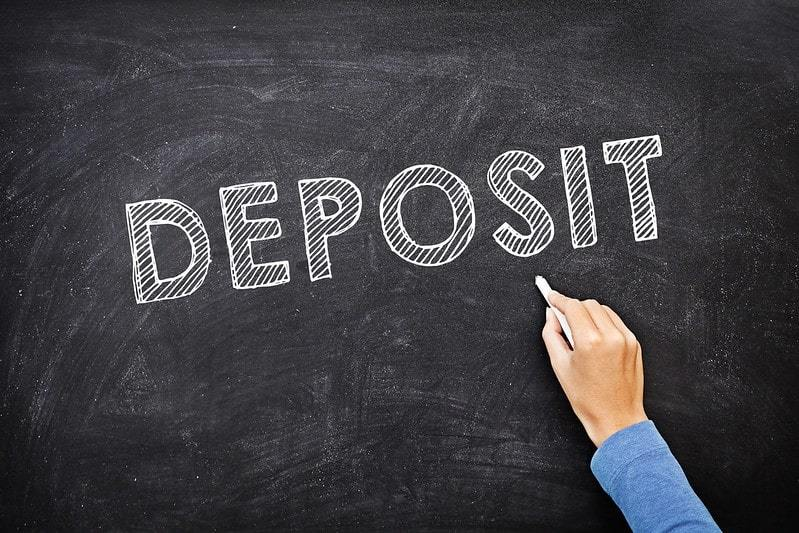 Deposits at the restaurant