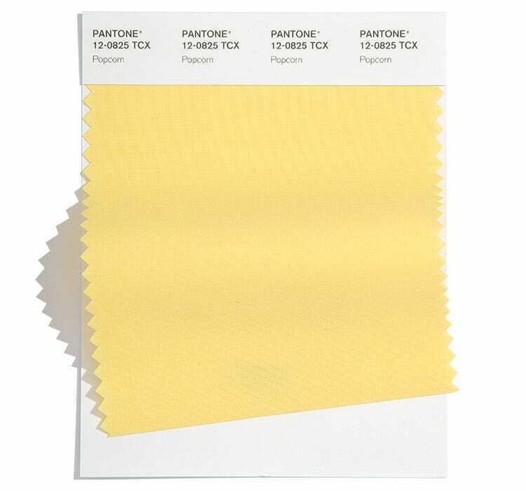 Жълт цвят Popcorn е сред модерните летни цветове на 2022 според Pantone.