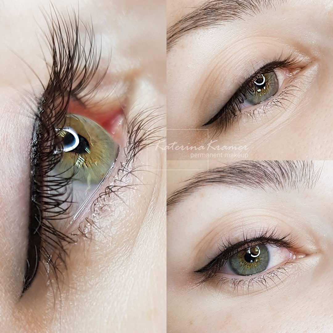 Перманентный макияж бровей фото до и после - Студия Катерины Крамер
