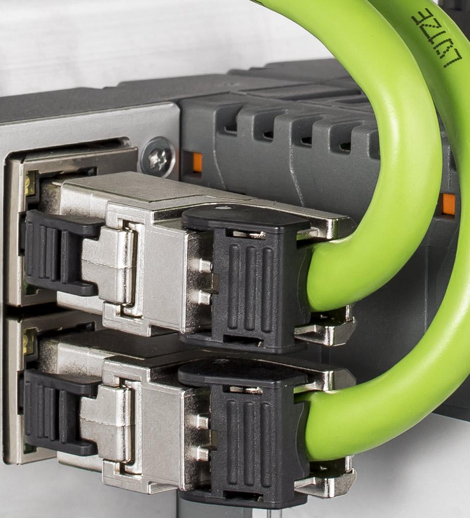 кабель ethernet з роз'ємами RJ45 у промисловості