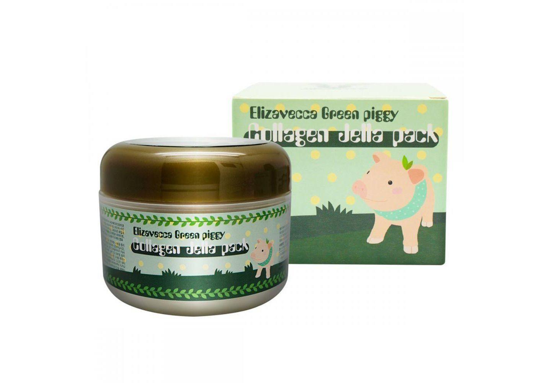 Концентрированная коллагеновая маска для лица ELIZAVECCA Green Piggy Collagen Jella Pack