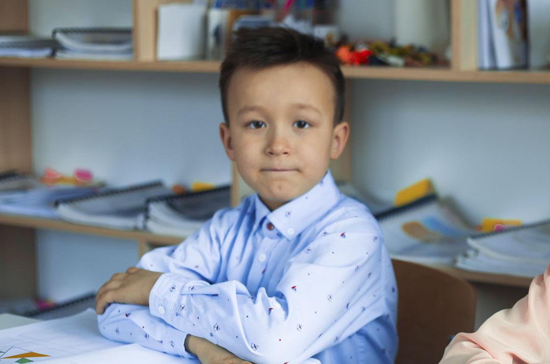 ученик курса развития для детей 7 лет