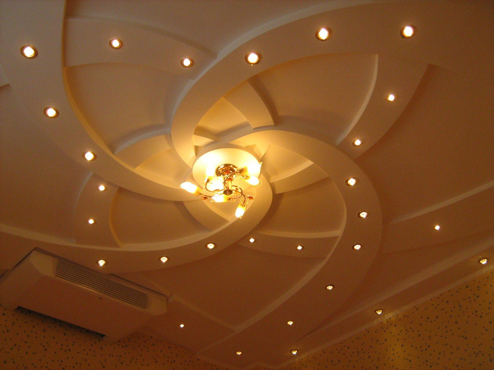 фигурное потолок из гипсокартона