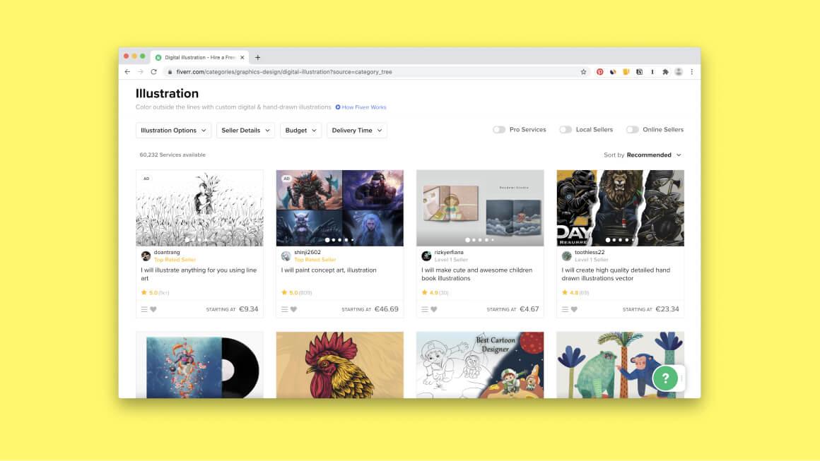Как заработать иллюстратору на Fiverr?