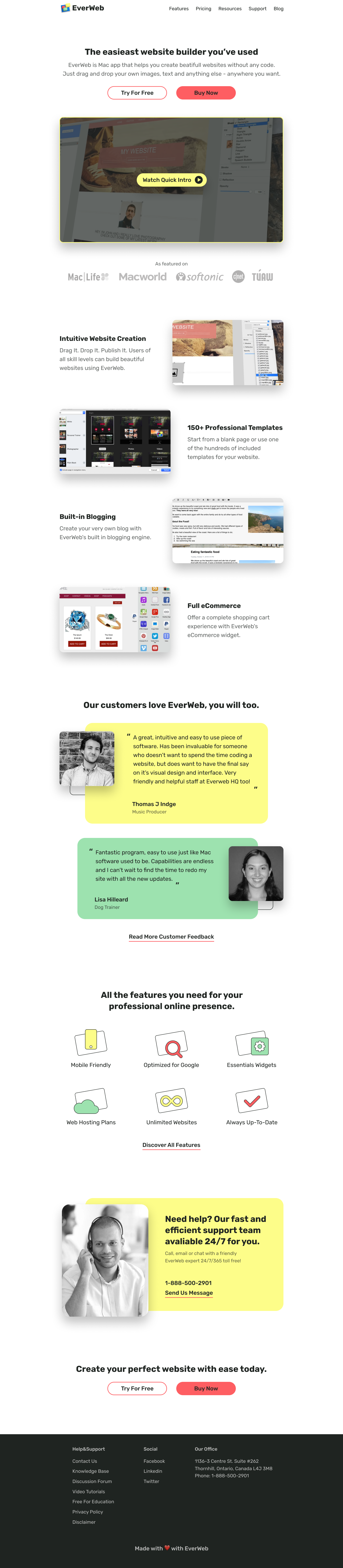 main page UI website redesign case study, landing page