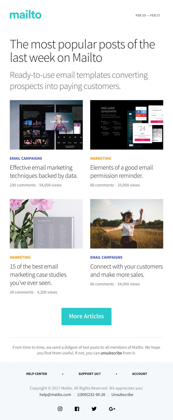 17 Highly Effective Html Email Templates Mailto