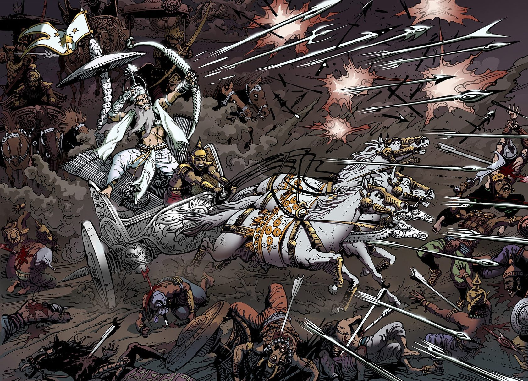 """Результат пошуку зображень за запитом """"Mahabharata. Gods and Heroes"""""""""""