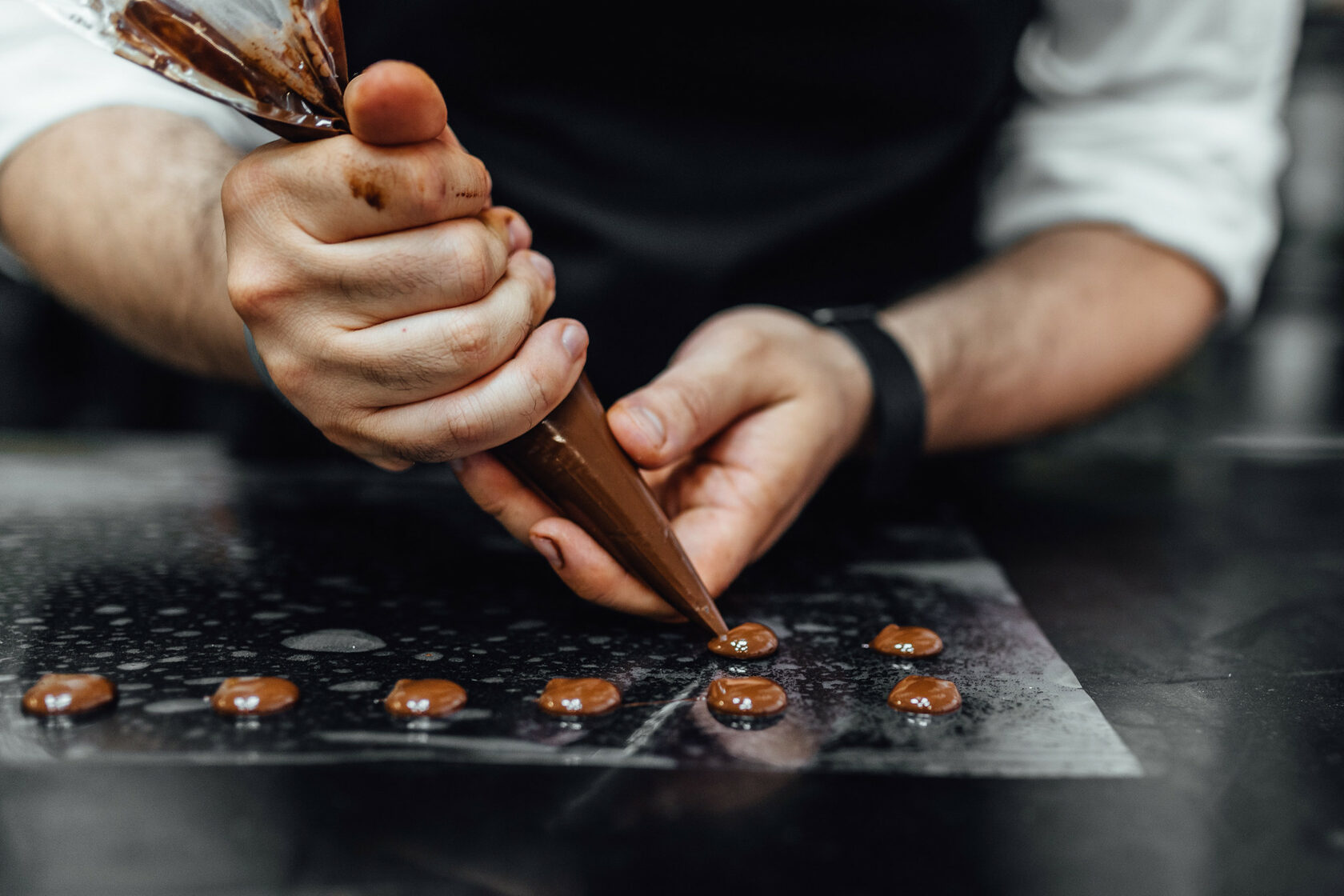 working with chocolate