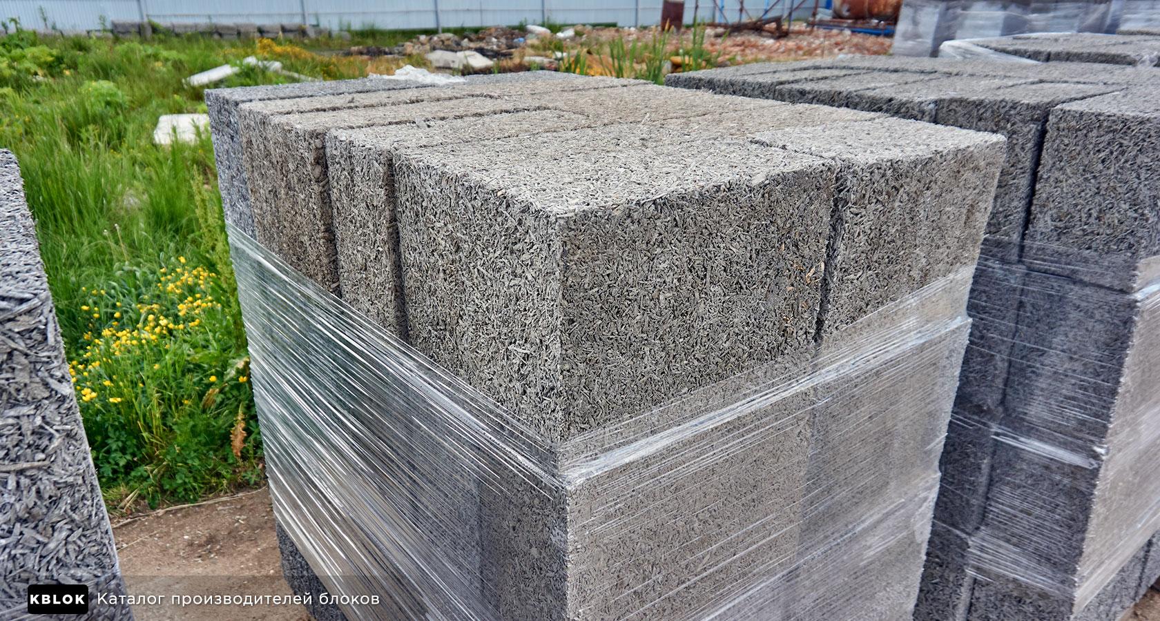 арболитовые блоки размером 440х300х200 мм