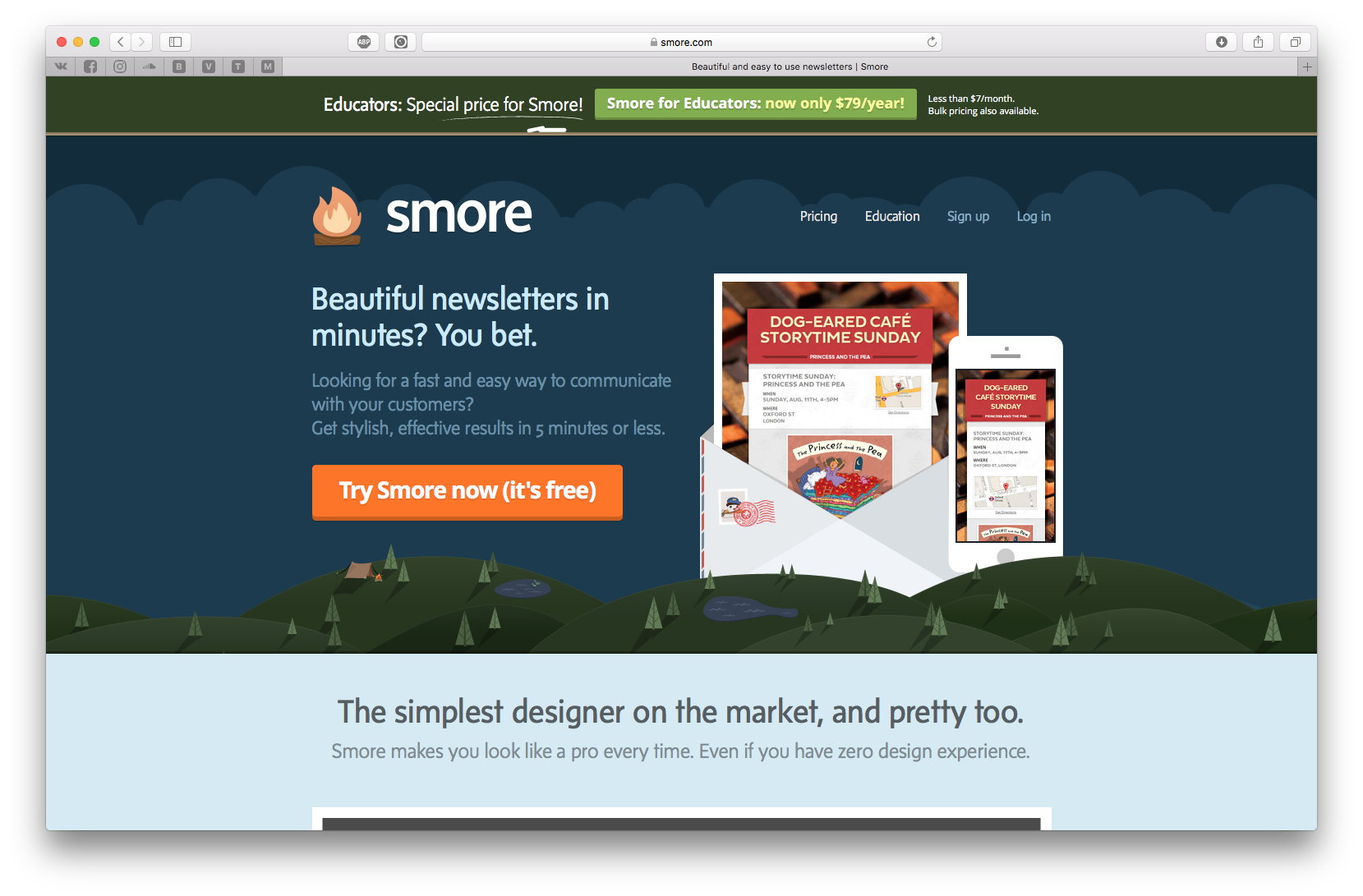 Smore helps you to create beautiful flyers when promoting events