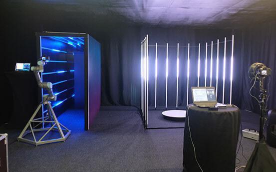 glambot neon на съёмках