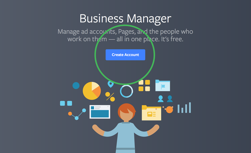 create account at Facebook Business Manager