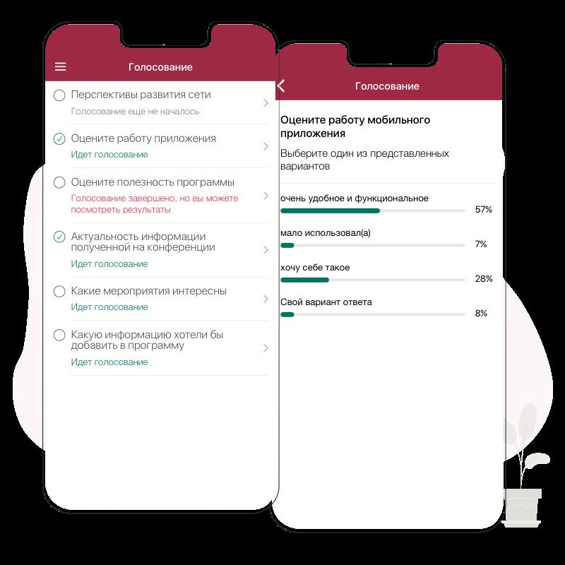 uVent - мобильные приложения для мероприятий. Голосование
