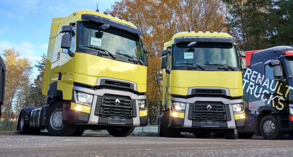 Флагманские тягачи T-High 4x2 оснащены дизельными турбодвигателями объемом 13 л мощностью 480 л. с. и соответствуют экостандарту «Евро-5» (фото: Renault Trucks)