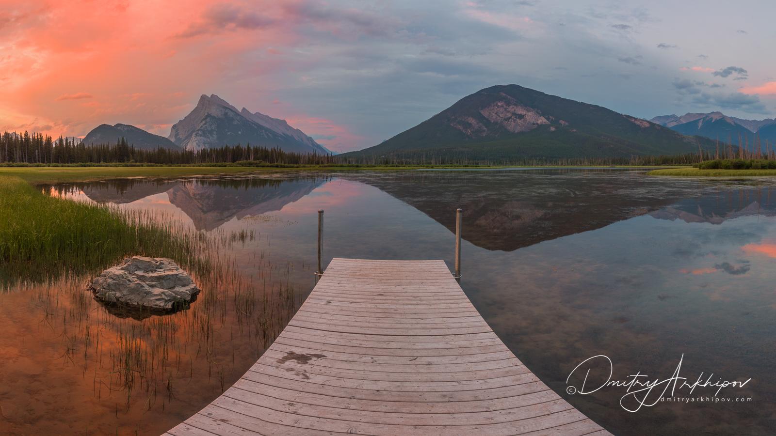 Bow Lake, Канада, красивое озеро